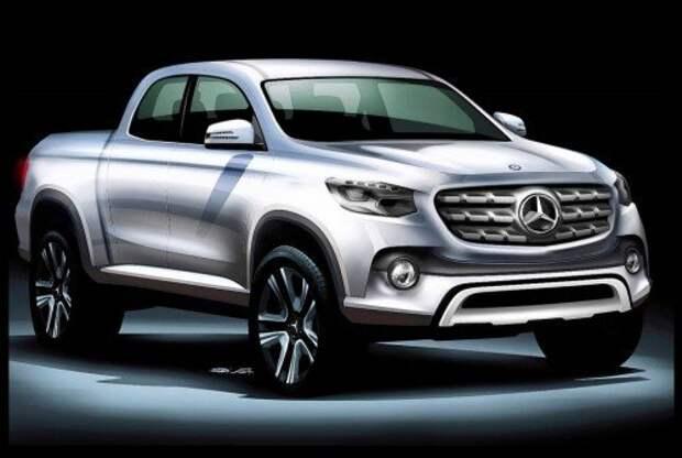 Пикап Mercedes-Benz GLT, набросок