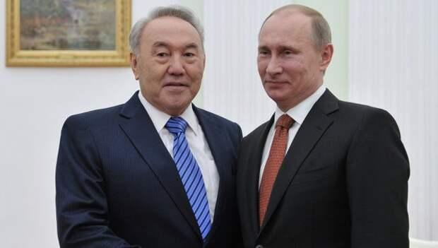 Владимир Путин поддержал выдвижение Нурсултана Назарбаева президентом Казахстана