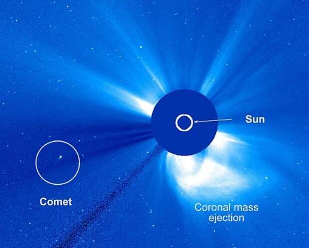 Комета чудесным образом «выжила» после критического сближения с Солнцем