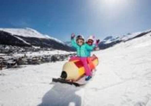 На итальянском горнолыжном курорте дети отдыхают бесплатно