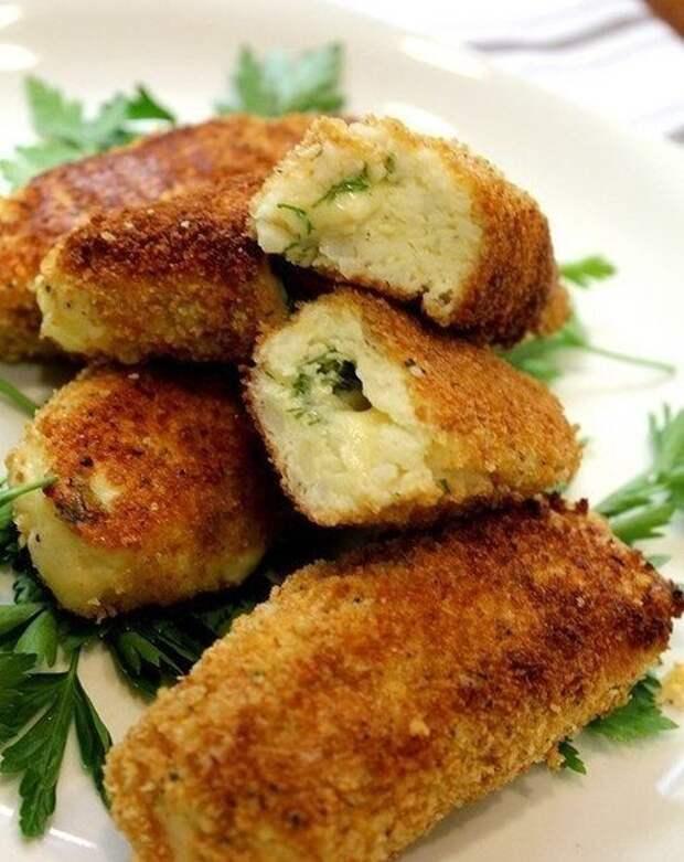 Фаготини из картофеля с сыром и базиликом