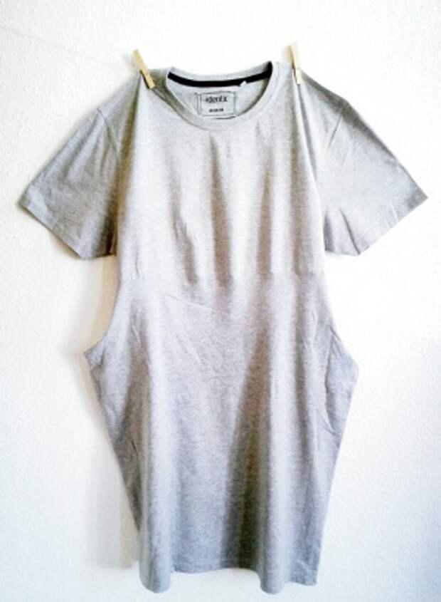 Платье сшитое из двух футболок (diy)
