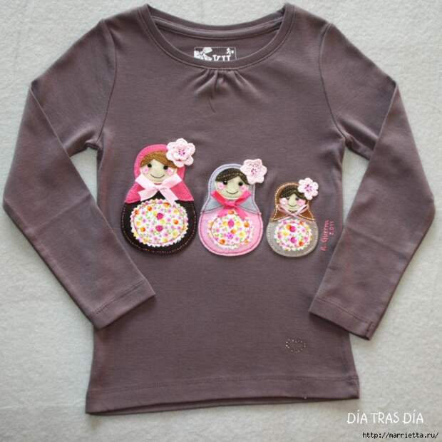 Аппликация с вышивкой на детских футболках (5) (700x700, 303Kb)