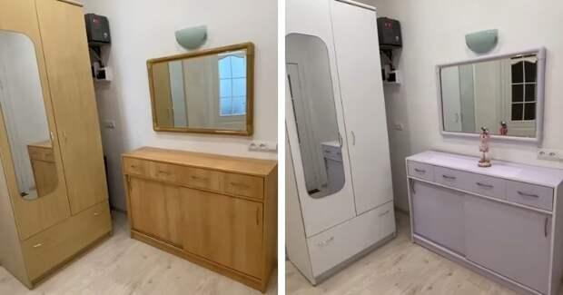 Простой и легкий способ покрасить полированную мебель без ошкуривания