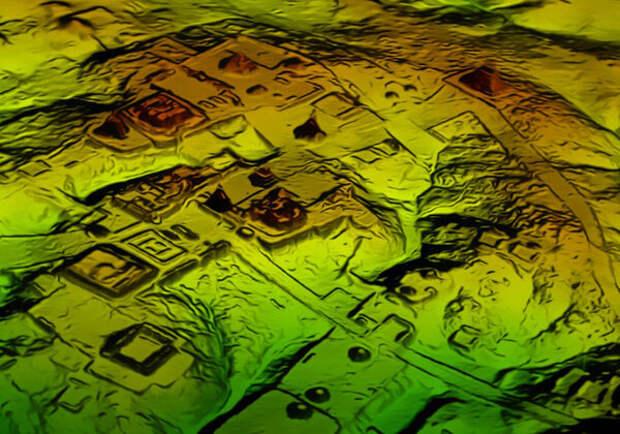 Снимок 3D-скана с сайта National Geographic. Подробнее почитать можно тут — https://news.nationalgeographic.com/2018/02/maya-laser-lidar-guatemala-pacunam/