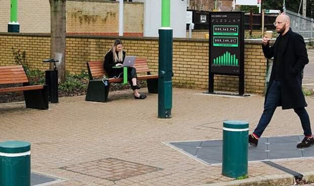 На британском вокзале уложили плитку, которая превращает шаги в электричество