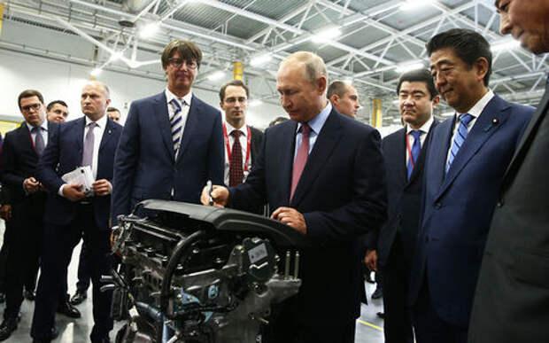 Во Владивостоке запустили завод по производству двигателей Mazda. Были Путин и Синдзо Абэ