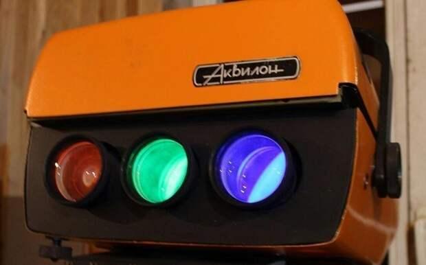"""Цветной видеопроектор """"Аквилон"""", выпускался очень ограниченной серией в 1991 году СССР, гаджет, история, стиралка, техника, факты"""
