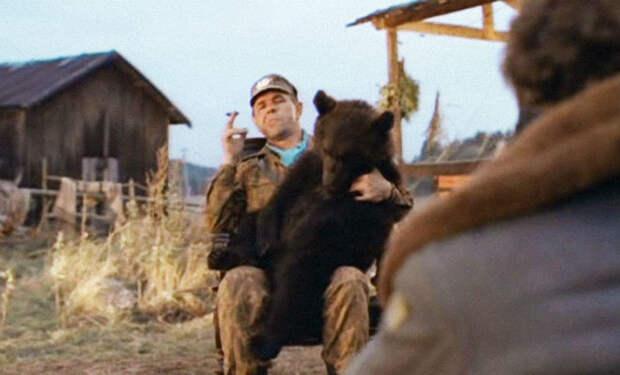 Медведь пришел на дачу к пенсионеру