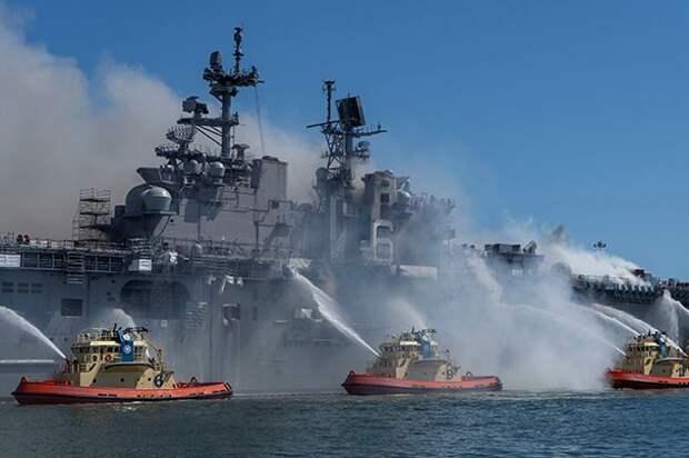 Пожар на гигантском корабле — первый предвестник распада ВМС США