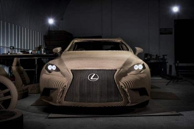 Lexus IS превратили в картонный электрокар (ВИДЕО)