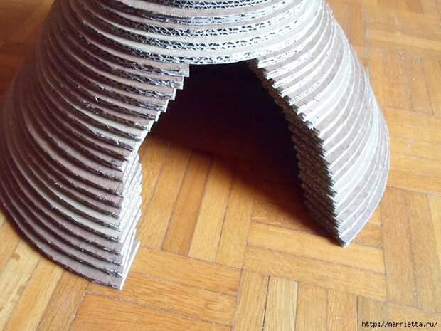 Кошкин домик из картона. Мастер-класс (20) (700x525, 318Kb)
