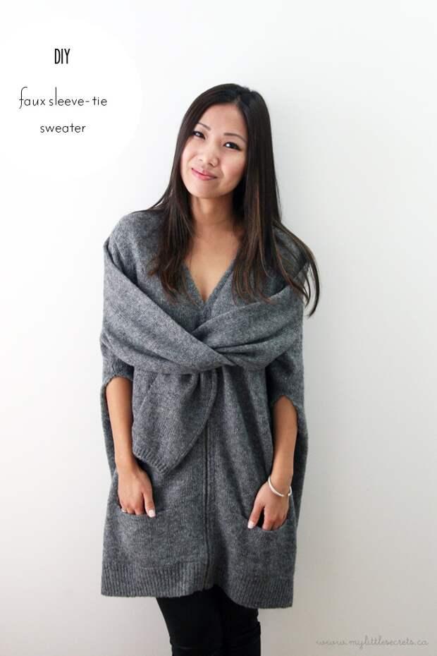 Пальто из мужского свитера (Diy)