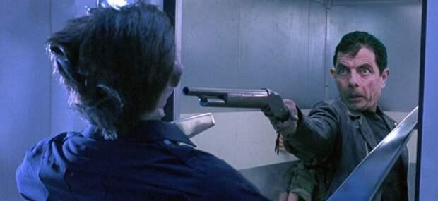 Если бы Терминатора сыграл Роуэн Аткинсон Аткинсон, Роуэн, актер, кино, комик, терминатор2