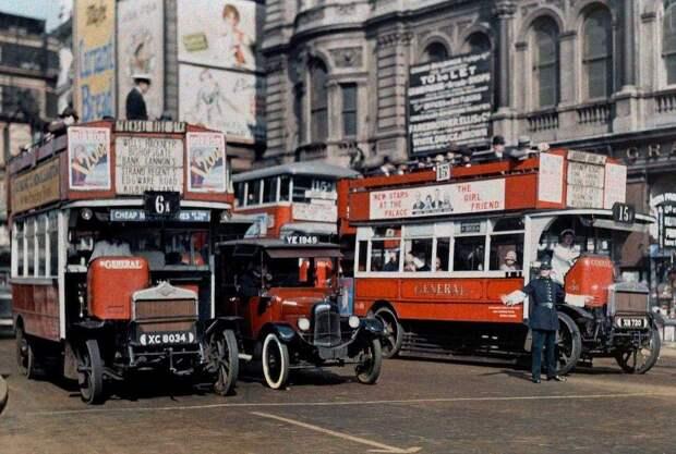 Редкие цветные фотографии Англии 1928года