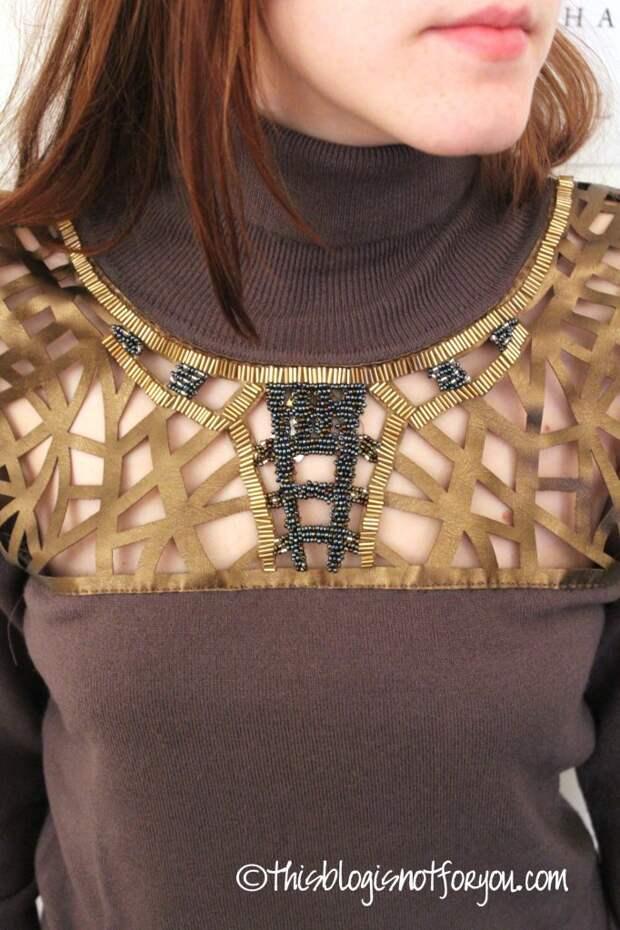 Нарядный свитер (Diy)