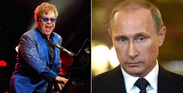 Путин встретится с Элтоном Джоном, но потом