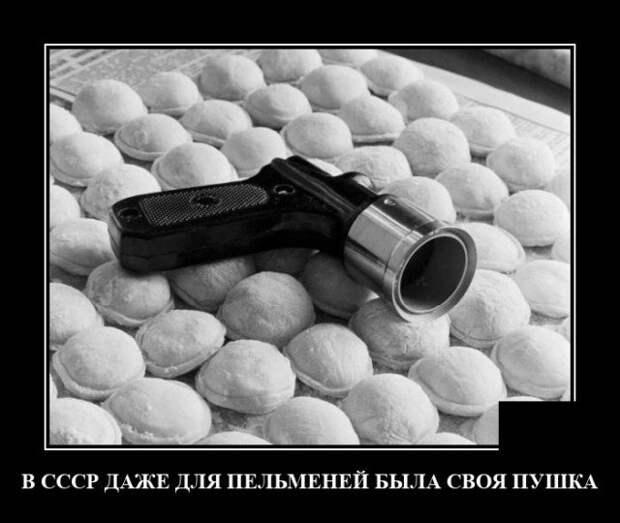 Демотиватор про пельмени в СССР