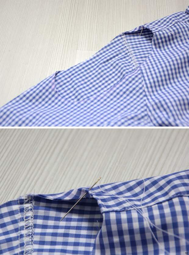 Переделка блузки к 14 февраля (Diy)