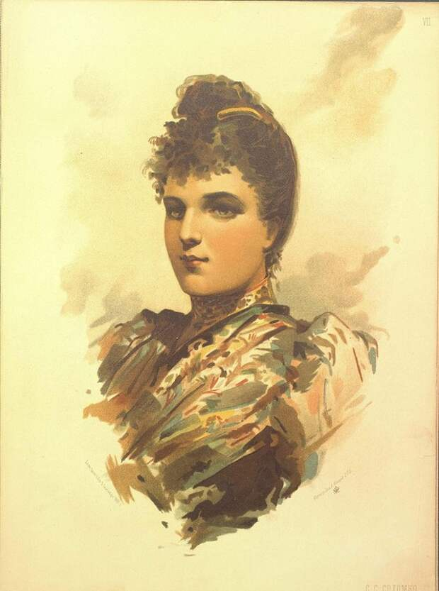 Красавицы 1891 года.