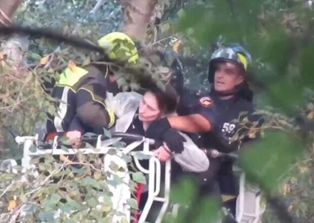 Засевшую на дереве экоактивистку из Бабушкинского доставили в полицию