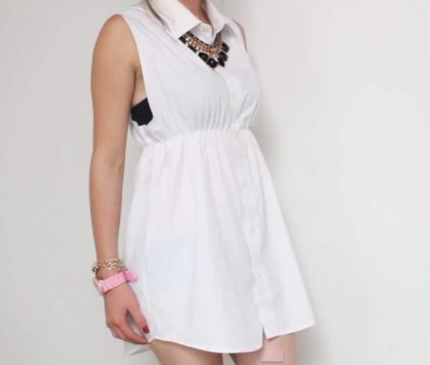 Платье из рубашки (Diy)