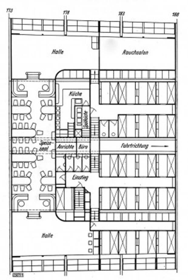 LZ-130 Граф Цеппелин планы палубы (нажмите, чтобы увеличить)