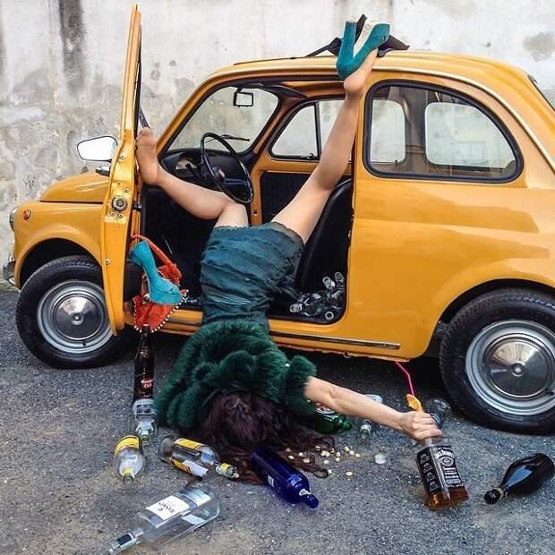 Забавные снимки о постановочных несчастных случаях