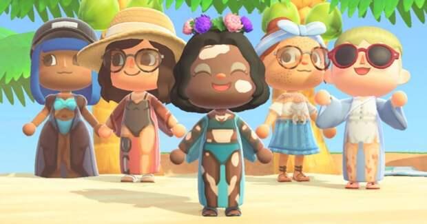 От веснушек до растяжек: бренд Venus добавил бодипозитива в игру Animal Crossing