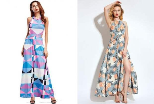 платья в пол 2018 на каждый день