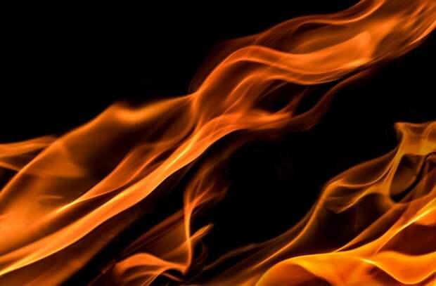 Мусорный контейнер сгорел во дворе на Бибиревской