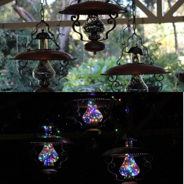 Переделка керосиновой лампы