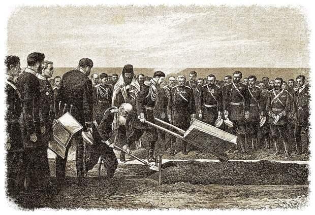 Церемония закладки Транссиба цесаревичем Николаем Александровичем во Владивостоке