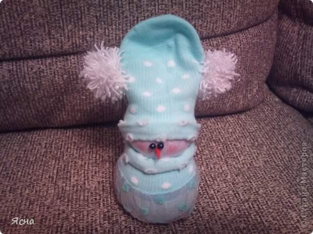 Мастер-класс Поделка изделие Новый год Шитьё И снова снеговики из носков + мои дополнения Носки фото 15