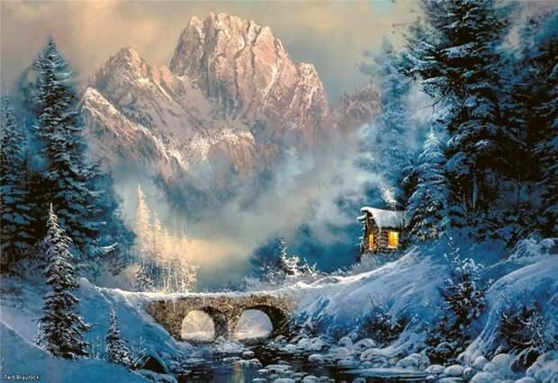 Зимняя сказка - Живопись
