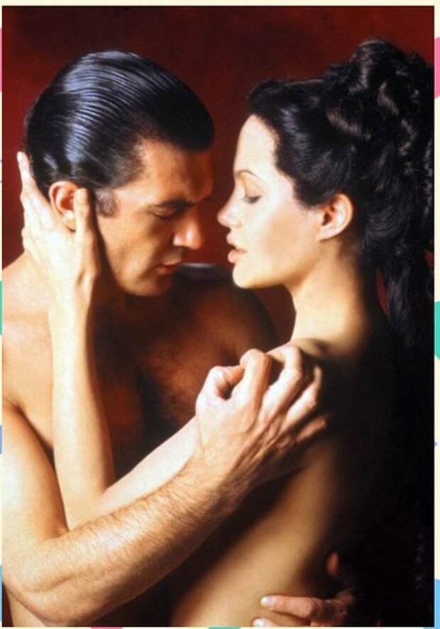 Анджелина Джоли и Антонио Бандерас в промо-фотосессии к фильму «Соблазн»