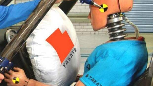 Подушка безопасности Takata на тестах