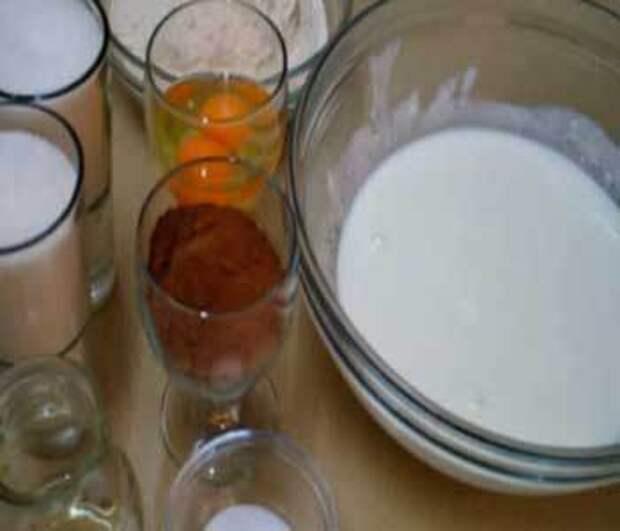 Как сделать шоколадный торт на кефире ноченька фото рецепт