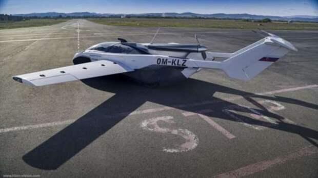 Словацкая компания показала свою новую разработку — летающий автомобиль AirCar (8 фото + видео)
