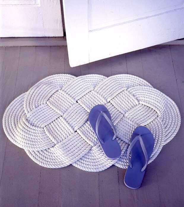 Веревочный коврик (Diy)