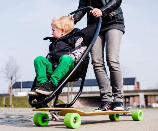 18. Для тех, кто детей уже завёл, а на скейте ещё не накатался. детские коляски, креатив, родители