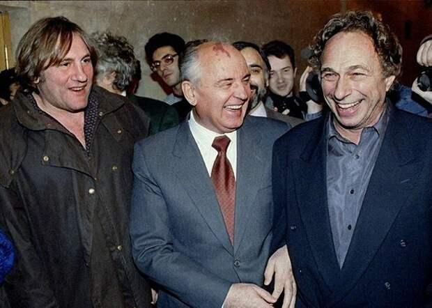 Жерар Депардье и Пьер Ришар в Москве, 1993 год