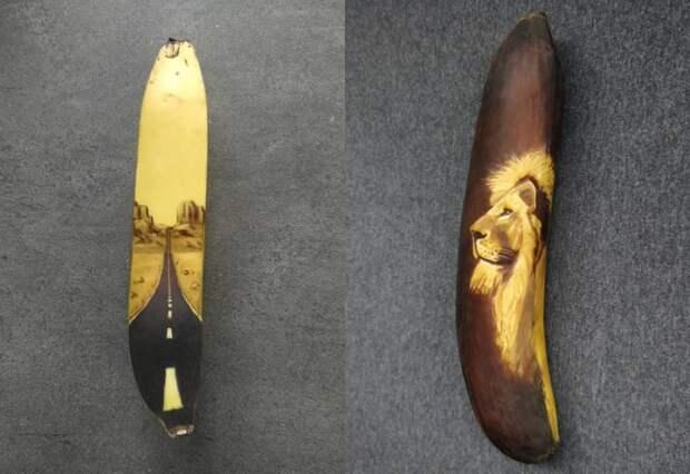 Рисунки на бананах: Искусство или дурость искусствоведов?