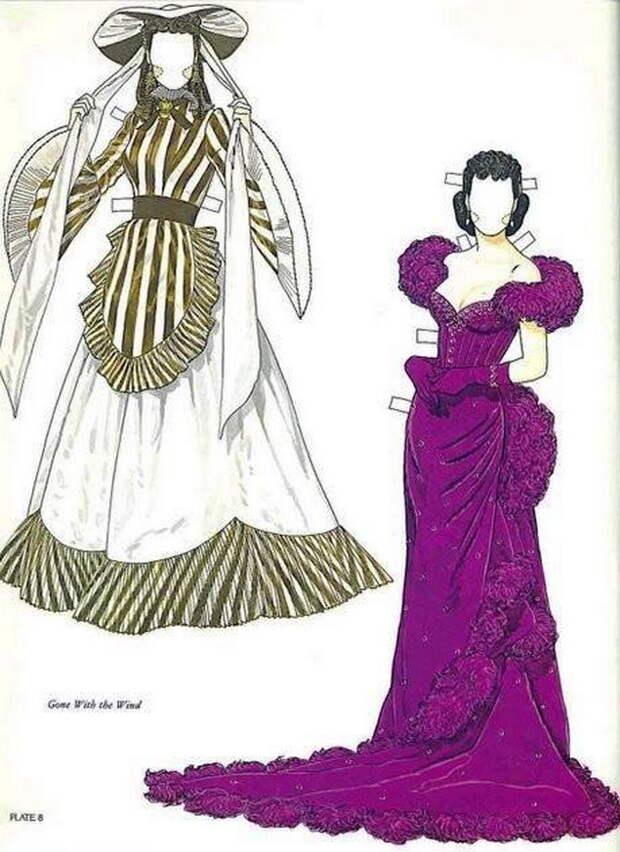 Потрясающая бумажная кукла - Вивьен Ли