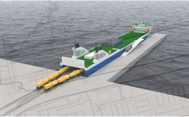 Российский паром-гигант проекта CNF19M лишит Литву грузового транзита