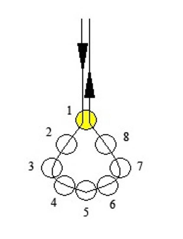 Схема свадебного ожерелья с жемчугом