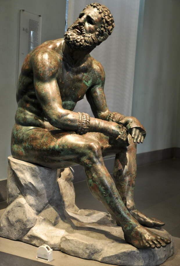 Кулачный боец. Эллинистическая статуя III–II веков до н.э. Национальный музей, Рим - Большие игры Древней Греции | Warspot.ru