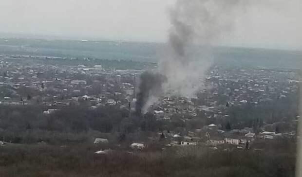 Заброшенное здание загорелось вСтаврополе