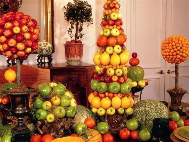 Топиарий из фруктов своими руками
