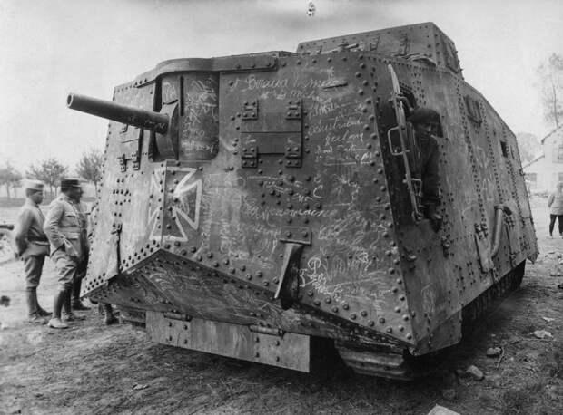 11. Немецкий тяжёлый танк A7V, Первая мировая война. интересное, исторические фото, история, фото